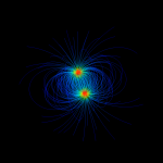 A medium resolution dipole plot with spheres as seeds.